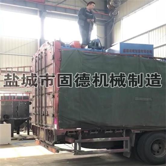 山东滨州履带式抛丸机Q3210发货